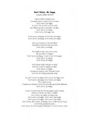 English Worksheet: song from Bobby McFerin - Don´t worry be happy