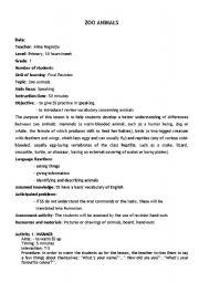 English worksheets: zoo animals worksheets, page 36