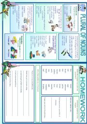English Worksheet: Plural of Nouns