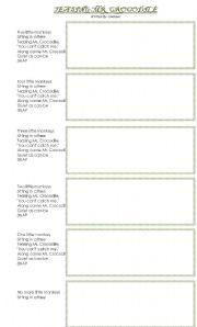 English Worksheets: TEASING MR. CROCODILE