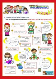 English Worksheet: Back to School Series  -  Focus on Grammar: has/hasn´t(got)  or have/haven´t(got)  (1/2)