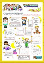 English Worksheet: Back to School  -  Focus on Grammar: has/hasn´t(got) or have/haven´t(got)   (2/2)