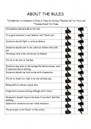 English Worksheets: About the Rules