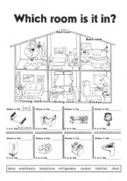English worksheets rooms in the house worksheets page 16 for Furniture quiz questions