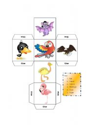 English Worksheets: DICE - LEARNING ABOUT BIRDS - KEY INCLUDED