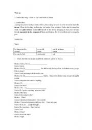 English Worksheet: Tasks going with the movie The Lion King