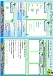 English Worksheets: ADVERBS OF TIME,PLACE AND DEGREE