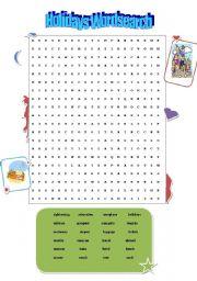 English Worksheets: HOLIDAY crossword