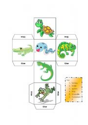 English Worksheet: DICE - LEARNING ABOUT REPTILES - KEY INCLUDED