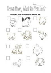 Reading worksheets > Tales and stories > Brown Bear