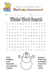 image regarding Winter Word Search Printable called Winter season Phrase Seem - ESL worksheet by way of quentin0227
