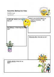 Printables Scientific Method Worksheet Kids printables scientific method elementary worksheet safarmediapps for young children