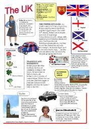 English Worksheet: The UK