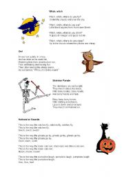 English Worksheet: Hallowe�en poems