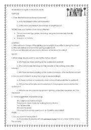 English worksheet: Fundraiser or multidisciplinary project: Fashion Show planning guide checklist worksheet