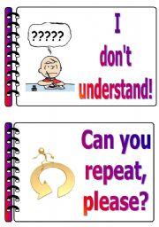 English Worksheet: Classroom language set 2