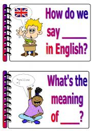 English Worksheet: Classroom language set 3