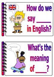English Worksheet: Classroom language set 3