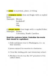 English Worksheets: Nouns Practice