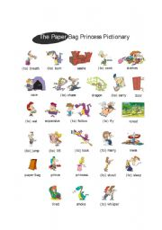 English Worksheets: Paper Bag Princess by Robert Munsch_Pictionary