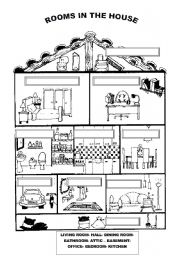 Rooms In The House Esl Worksheet By Ilona