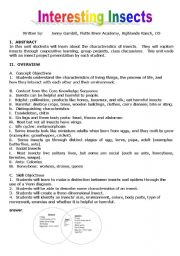English Worksheets: interesting insects
