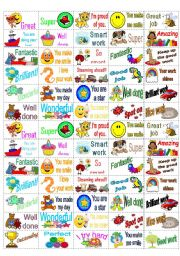 English Worksheet: 65 Reward Stickers