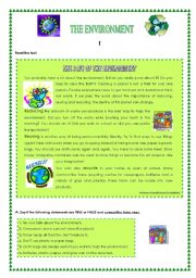 English Worksheet: The Environment