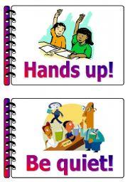 English Worksheet: Classroom language set 6