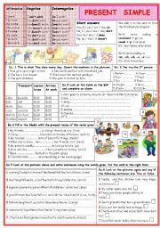 English Worksheet: Present simple