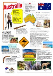 English Worksheet: Australia
