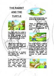 THE RABBIT AND THE TURTLE - FABLE - EXERCISES INCLUDED