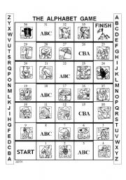 graphic relating to Printable Alphabet Games named The English Alphabet Recreation - ESL worksheet via marylin
