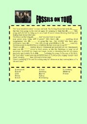 English Worksheets: Fossils on tour - The Rolling Stones
