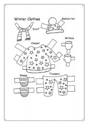 English Worksheet: Winter clothes!