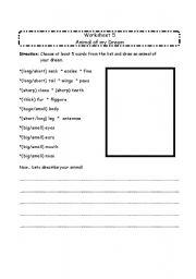 English Worksheets: animal Vocab