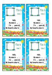 English Worksheets: ID card