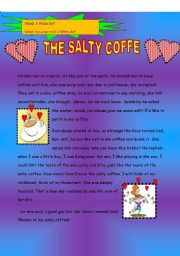 English Worksheet: the salty coffee!!