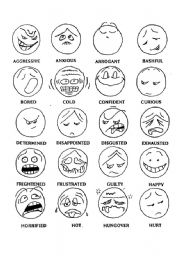 English Worksheet: feelings and states of emotions