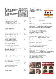 English Worksheets: The Beatles Biography and songs part 2 of 2