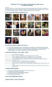 English Worksheets: Film: The bucket list: