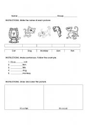 English Worksheets: it�s a