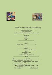 English Worksheet: MAMMA I�M A BIG GIRL NOW- HAIRSPRAY