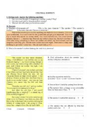 English Worksheets: Cultural Identity