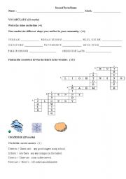 English worksheet: exam 100  editable