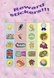 English Worksheet: Reward stickers!