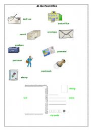 English Worksheet: At the post office