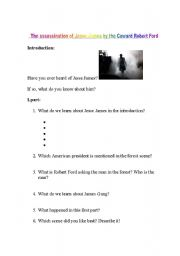 English Worksheets: The assassination of Jesse James by the coward Robert Ford - Film
