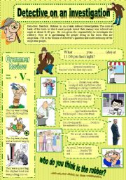 English Worksheet: detective on an investigation episode -3-