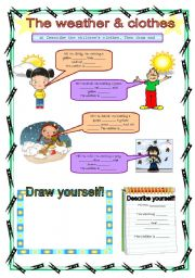 English Worksheet: The weather & clothes